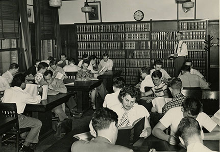 Students Studying in the Law Library ca 1948
