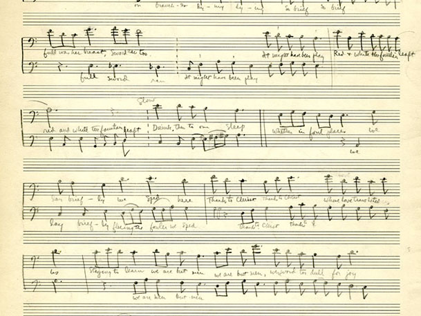 Page from the handwritten musical composition,